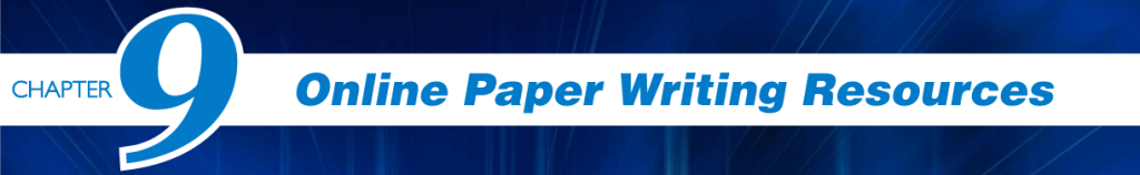 Chapter 9 -Online Paper Writing Resources